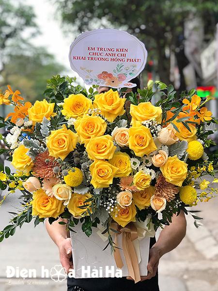 Lẵng hoa mừng sinh nhật- Thịnh Vượng